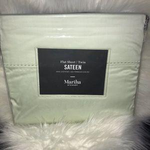 Martha Stewart Twin Flat Sheet - Mint Green